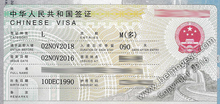 China L visa for long term needs